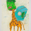 Camilo Restrepo. <em>Laverde</em>, 2021. Water-soluble wax pastel, ink, tape and saliva on paper 11 3/4 x 8 1/4 inches (29.8 x 21 cm) thumbnail