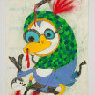 Camilo Restrepo. <em>Oswaldo</em>, 2021. Water-soluble wax pastel, ink, tape and saliva on paper 11 3/4 x 8 1/4 inches (29.8 x 21 cm) thumbnail