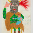 Camilo Restrepo. <em>Patrona</em>, 2021. Water-soluble wax pastel, ink, tape and saliva on paper 11 3/4 x 8 1/4 inches (29.8 x 21 cm) thumbnail