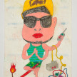 Camilo Restrepo. <em>Poliarco</em>, 2021. Water-soluble wax pastel, ink, tape and saliva on paper 11 3/4 x 8 1/4 inches (29.8 x 21 cm) thumbnail