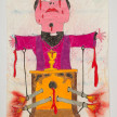 Camilo Restrepo. <em>Cura</em>, 2021. Water-soluble wax pastel, ink, tape and saliva on paper 11 3/4 x 8 1/4 inches (29.8 x 21 cm) thumbnail