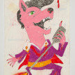 Camilo Restrepo. <em>Copete</em>, 2021. Water-soluble wax pastel, ink, tape and saliva on paper 11 3/4 x 8 1/4 inches (29.8 x 21 cm) thumbnail