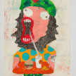 Camilo Restrepo. <em>Che</em>, 2021. Water-soluble wax pastel, ink, tape and saliva on paper 11 3/4 x 8 1/4 inches (29.8 x 21 cm) thumbnail