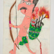 Camilo Restrepo. <em>Calarcà</em>, 2021. Water-soluble wax pastel, ink, tape and saliva on paper 11 3/4 x 8 1/4 inches (29.8 x 21 cm) thumbnail