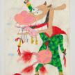 Camilo Restrepo. <em>Alirio Mata de Vaca</em>, 2021. Water-soluble wax pastel, ink, tape and saliva on paper 11 3/4 x 8 1/4 inches (29.8 x 21 cm) thumbnail