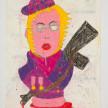 Camilo Restrepo. <em>Fabiàn Famirez</em>, 2021. Water-soluble wax pastel, ink, tape and saliva on paper 11 3/4 x 8 1/4 inches (29.8 x 21 cm) thumbnail