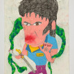 Camilo Restrepo. <em>Pablo Atrato</em>, 2021. Water-soluble wax pastel, ink, tape and saliva on paper 11 3/4 x 8 1/4 inches (29.8 x 21 cm) thumbnail