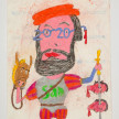 Camilo Restrepo. <em>Hernàn</em>, 2021. Water-soluble wax pastel, ink, tape and saliva on paper 11 3/4 x 8 1/4 inches (29.8 x 21 cm) thumbnail