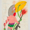 Camilo Restrepo. <em>Yacabo</em>, 2021. Water-soluble wax pastel, ink, tape and saliva on paper 11 3/4 x 8 1/4 inches (29.8 x 21 cm) thumbnail