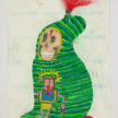 Camilo Restrepo. <em>Paraca</em>, 2021. Water-soluble wax pastel, ink, tape and saliva on paper 11 3/4 x 8 1/4 inches (29.8 x 21 cm) thumbnail