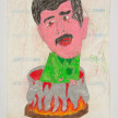 Camilo Restrepo. <em>Veneco</em>, 2021. Water-soluble wax pastel, ink, tape and saliva on paper 11 3/4 x 8 1/4 inches (29.8 x 21 cm) thumbnail
