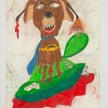 Camilo Restrepo. <em>Chiruzo</em>, 2021. Water-soluble wax pastel, ink, tape and saliva on paper 11 3/4 x 8 1/4 inches (29.8 x 21 cm) thumbnail