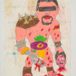 Camilo Restrepo. <em>Mochomo</em>, 2021. Water-soluble wax pastel, ink, tape and saliva on paper 11 3/4 x 8 1/4 inches (29.8 x 21 cm) thumbnail