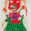 Camilo Restrepo. <em>Toro</em>, 2021. Water-soluble wax pastel, ink, tape and saliva on paper 11 3/4 x 8 1/4 inches (29.8 x 21 cm) thumbnail
