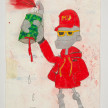 Camilo Restrepo. <em>Marcos Urbano</em>, 2021. Water-soluble wax pastel, ink, tape and saliva on paper 11 3/4 x 8 1/4 inches (29.8 x 21 cm) thumbnail
