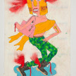 Camilo Restrepo. <em>Hermes</em>, 2021. Water-soluble wax pastel, ink, tape and saliva on paper 11 3/4 x 8 1/4 inches (29.8 x 21 cm) thumbnail