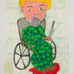 Camilo Restrepo. <em>Lenin</em>, 2021. Water-soluble wax pastel, ink, tape and saliva on paper 11 3/4 x 8 1/4 inches (29.8 x 21 cm) thumbnail