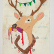 Camilo Restrepo. <em>Venado</em>, 2021. Water-soluble wax pastel, ink, tape and saliva on paper 11 3/4 x 8 1/4 inches (29.8 x 21 cm) thumbnail