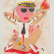 Camilo Restrepo. <em>Piloto</em>, 2021. Water-soluble wax pastel, ink, tape and saliva on paper 11 3/4 x 8 1/4 inches (29.8 x 21 cm) thumbnail