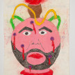 Camilo Restrepo. <em>Botija</em>, 2021. Water-soluble wax pastel, ink, tape and saliva on paper 11 3/4 x 8 1/4 inches (29.8 x 21 cm) thumbnail