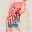 Camilo Restrepo. <em>Junior</em>, 2021. Water-soluble wax pastel, ink, tape and saliva on paper 11 3/4 x 8 1/4 inches (29.8 x 21 cm) thumbnail