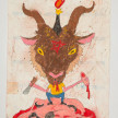 Camilo Restrepo. <em>Satànico</em>, 2021. Water-soluble wax pastel, ink, tape and saliva on paper 11 3/4 x 8 1/4 inches (29.8 x 21 cm) thumbnail