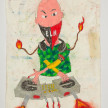 Camilo Restrepo. <em>Yirson</em>, 2021. Water-soluble wax pastel, ink, tape and saliva on paper 11 3/4 x 8 1/4 inches (29.8 x 21 cm) thumbnail