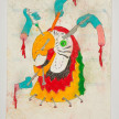 Camilo Restrepo. <em>Guacamayo</em>, 2021. Water-soluble wax pastel, ink, tape and saliva on paper 11 3/4 x 8 1/4 inches (29.8 x 21 cm) thumbnail