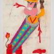 Camilo Restrepo. <em>Martìn Bala</em>, 2021. Water-soluble wax pastel, ink, tape and saliva on paper 11 3/4 x 8 1/4 inches (29.8 x 21 cm) thumbnail