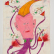 Camilo Restrepo. <em>Tuso</em>, 2021. Water-soluble wax pastel, ink, tape and saliva on paper 11 3/4 x 8 1/4 inches (29.8 x 21 cm) thumbnail