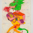 Camilo Restrepo. <em>Rogelio</em>, 2021. Water-soluble wax pastel, ink, tape and saliva on paper 11 3/4 x 8 1/4 inches (29.8 x 21 cm) thumbnail