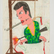 Camilo Restrepo. <em>Negro Antonio</em>, 2021. Water-soluble wax pastel, ink, tape and saliva on paper 11 3/4 x 8 1/4 inches (29.8 x 21 cm) thumbnail