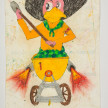 Camilo Restrepo. <em>Caliche</em>, 2021. Water-soluble wax pastel, ink, tape and saliva on paper 11 3/4 x 8 1/4 inches (29.8 x 21 cm) thumbnail