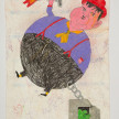 Camilo Restrepo. <em>Gordo</em>, 2021. Water-soluble wax pastel, ink, tape and saliva on paper 11 3/4 x 8 1/4 inches (29.8 x 21 cm) thumbnail