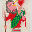 Camilo Restrepo. <em>Cristobal</em>, 2021. Water-soluble wax pastel, ink, tape and saliva on paper 11 3/4 x 8 1/4 inches (29.8 x 21 cm) thumbnail