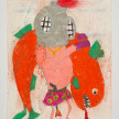 Camilo Restrepo. <em>Piraña</em>, 2021. Water-soluble wax pastel, ink, tape and saliva on paper 11 3/4 x 8 1/4 inches (29.8 x 21 cm) thumbnail
