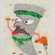 Camilo Restrepo. <em>Tornillo</em>, 2021. Water-soluble wax pastel, ink, tape and saliva on paper 11 3/4 x 8 1/4 inches (29.8 x 21 cm) thumbnail