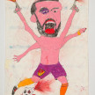 Camilo Restrepo. <em>Pereira</em>, 2021. Water-soluble wax pastel, ink, tape and saliva on paper 11 3/4 x 8 1/4 inches (29.8 x 21 cm) thumbnail