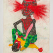 Camilo Restrepo. <em>Mario Morales</em>, 2021. Water-soluble wax pastel, ink, tape and saliva on paper 11 3/4 x 8 1/4 inches (29.8 x 21 cm) thumbnail