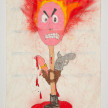 Camilo Restrepo. <em>Fòsforo</em>, 2021. Water-soluble wax pastel, ink, tape and saliva on paper 11 3/4 x 8 1/4 inches (29.8 x 21 cm) thumbnail