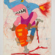 Camilo Restrepo. <em>Martillo</em>, 2021. Water-soluble wax pastel, ink, tape and saliva on paper 11 3/4 x 8 1/4 inches (29.8 x 21 cm) thumbnail