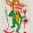 Camilo Restrepo. <em>Jerònimo</em>, 2021. Water-soluble wax pastel, ink, tape and saliva on paper 11 3/4 x 8 1/4 inches (29.8 x 21 cm) thumbnail
