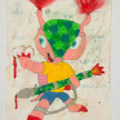 Camilo Restrepo. <em>Brasil</em>, 2021. Water-soluble wax pastel, ink, tape and saliva on paper 11 3/4 x 8 1/4 inches (29.8 x 21 cm) thumbnail
