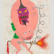 Camilo Restrepo. <em>Cabezòn</em>, 2021. Water-soluble wax pastel, ink, tape and saliva on paper 11 3/4 x 8 1/4 inches (29.8 x 21 cm) thumbnail