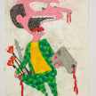 Camilo Restrepo. <em>Flaco</em>, 2021. Water-soluble wax pastel, ink, tape and saliva on paper 11 3/4 x 8 1/4 inches (29.8 x 21 cm) thumbnail
