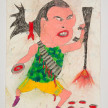 Camilo Restrepo. <em>Maritza</em>, 2021. Water-soluble wax pastel, ink, tape and saliva on paper 11 3/4 x 8 1/4 inches (29.8 x 21 cm) thumbnail