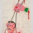 Camilo Restrepo. <em>Palillo</em>, 2021. Water-soluble wax pastel, ink, tape and saliva on paper 11 3/4 x 8 1/4 inches (29.8 x 21 cm) thumbnail