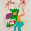 Camilo Restrepo. <em>Justo</em>, 2021. Water-soluble wax pastel, ink, tape and saliva on paper 11 3/4 x 8 1/4 inches (29.8 x 21 cm) thumbnail