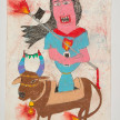 Camilo Restrepo. <em>Pola</em>, 2021. Water-soluble wax pastel, ink, tape and saliva on paper 11 3/4 x 8 1/4 inches (29.8 x 21 cm) thumbnail