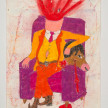 Camilo Restrepo. <em>Padrino</em>, 2021. Water-soluble wax pastel, ink, tape and saliva on paper 11 3/4 x 8 1/4 inches (29.8 x 21 cm) thumbnail